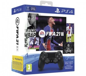 Sony DualShock Ds4 V2 Black + FIFA21