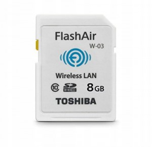 FlashAir Wi-Fi SDHC 8GB Card TOSHIBA